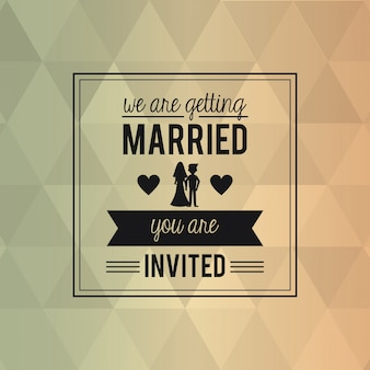 Carte de fond abstrait coloré de mariage
