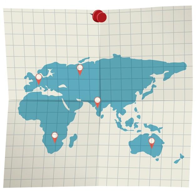 Une carte sur fond blanc