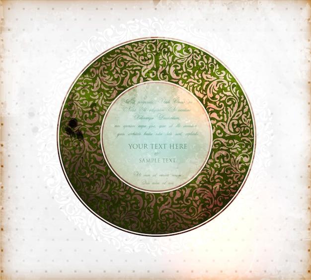 Carte fond grunge royal antique