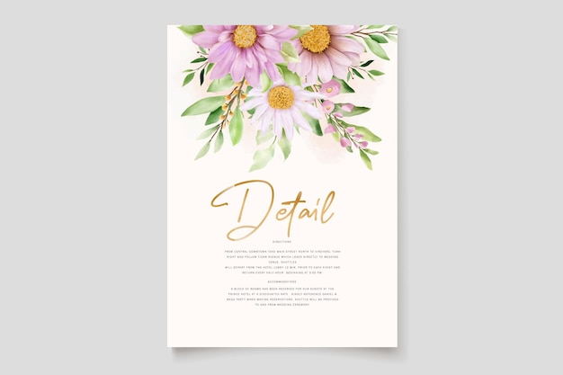 Carte de fond de noël floral aquarelle