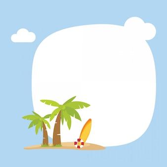 Carte de fond de vacances d'été