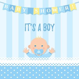 Carte de garçon de douche de bébé