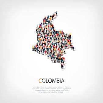 Carte des gens pays colombie