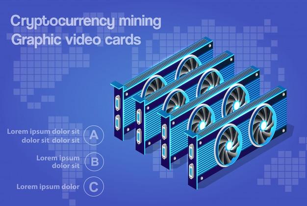 Carte graphique vidéo 3d isométrique
