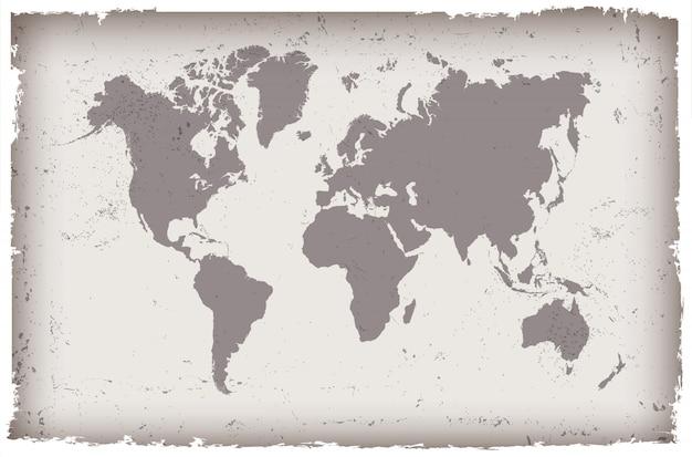 Carte grunge du monde