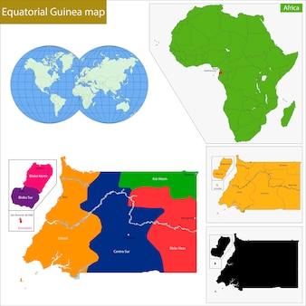 Carte de la guinée équatoriale