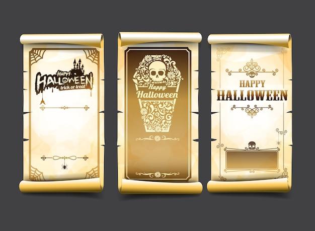 Carte de halloween classique et vintage