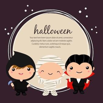 Carte d'halloween avec costume de dracula