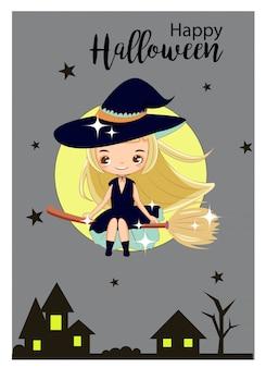 Carte de halloween heureux