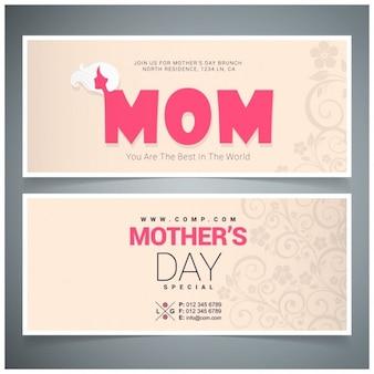 Carte heureux vintage motherss jour typographical recto verso
