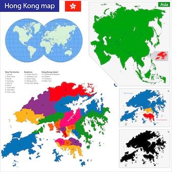 Carte de hong kong