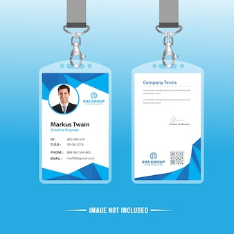Carte d'identification abstraite