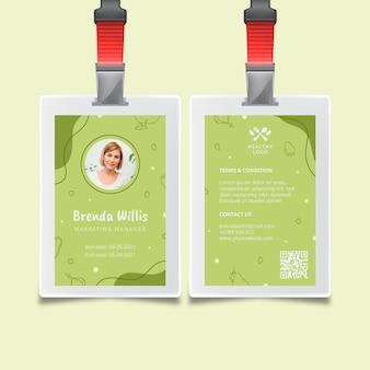 Carte d'identité bio et alimentation saine