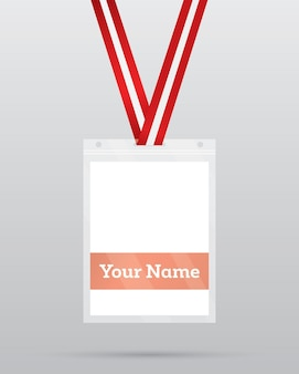 Carte d'identité avec cordon pour l'accès aux événements. élément de sécurité et de contrôle.