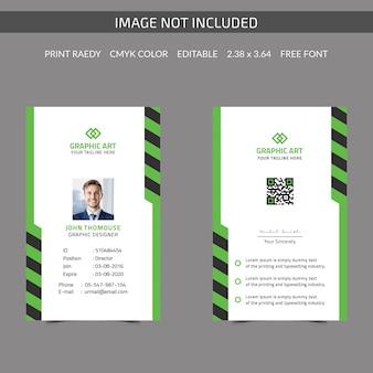 Carte d'identité d'entreprise simple