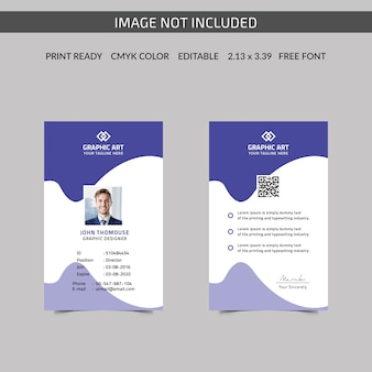 Carte d'identité d'entreprise