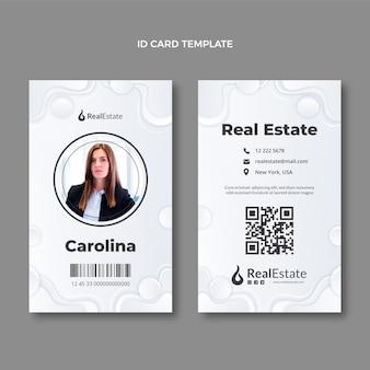 Carte d'identité immobilière à texture dégradée