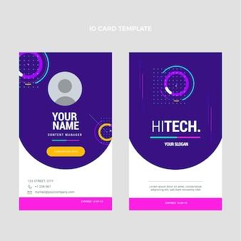 Carte d'identité plate à technologie minimale