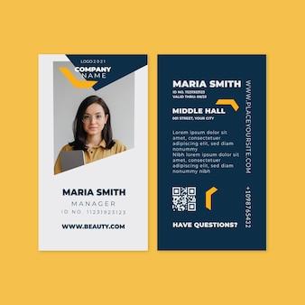 Carte d'identité professionnelle générale