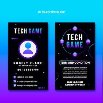 Carte d'identité de technologie abstraite dégradée