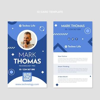Carte d'identité de technologie minimale de conception plate