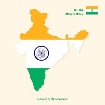 Carte de l'inde