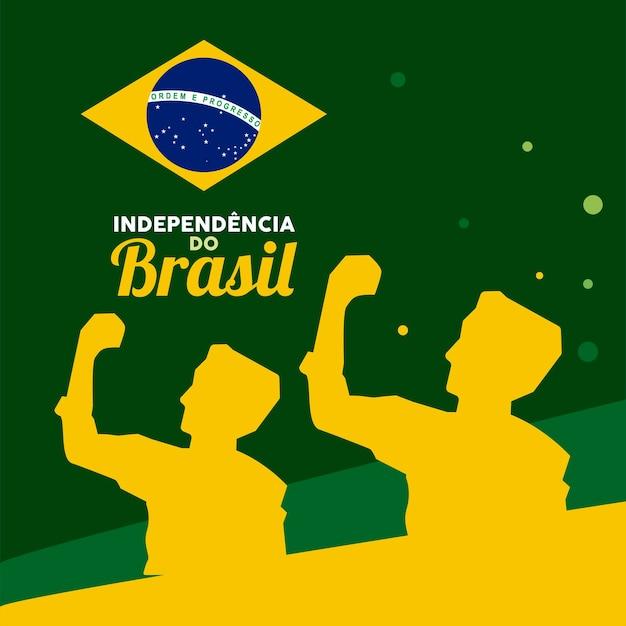 Carte de l'indépendance du brésil heureux