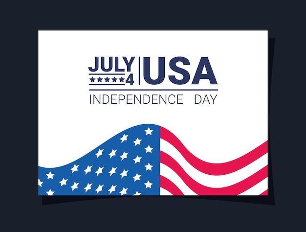 Carte d'indépendance des états-unis