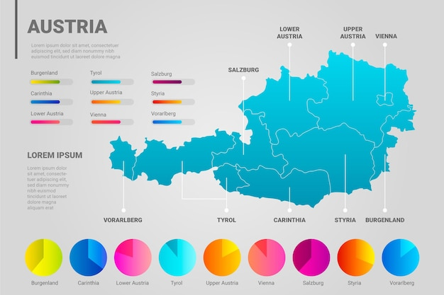 Carte infographique de l'autriche