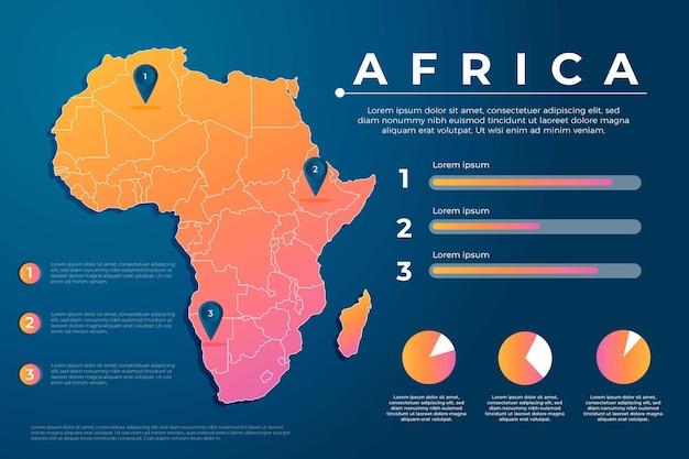 Carte infographique de dégradé créatif afrique