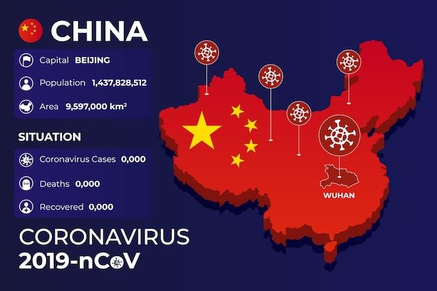 Carte infographique du coronavirus en chine