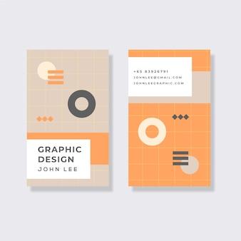 Carte d'information d'entreprise minimaliste
