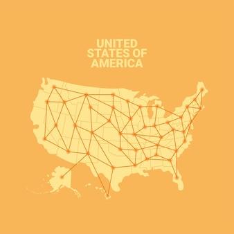 Carte d'interconnexion des états-unis