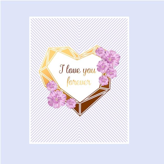 Carte d'invitation amour abstrait de la saint-valentin