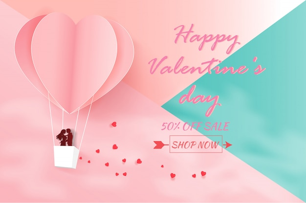 Carte d'invitation d'amour saint valentin.