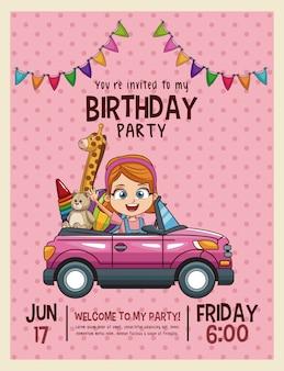 Carte d'invitation anniversaire enfants