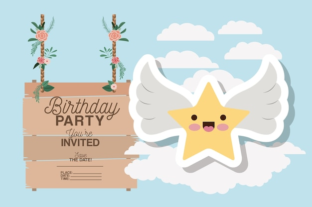 Carte d'invitation d'anniversaire