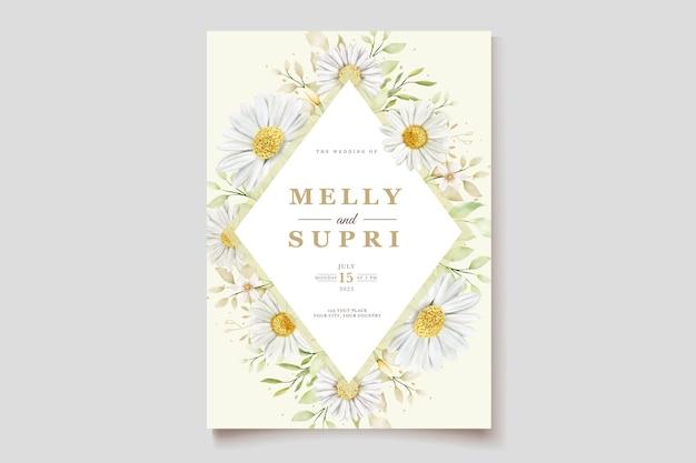 Carte d'invitation aquarelle chrysanthème