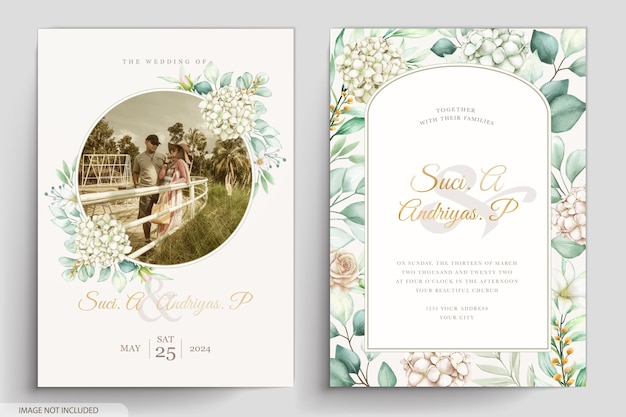 Carte d'invitation aquarelle de pivoines élégantes