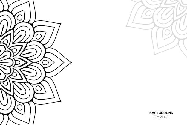 Carte d'invitation avec backgraund ornement floral