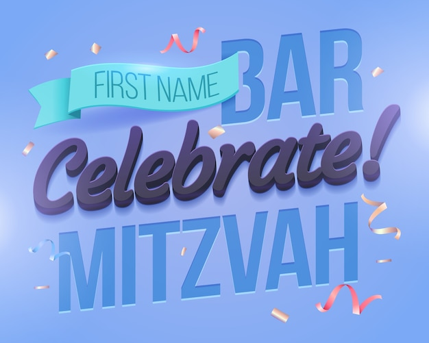 Carte d'invitation de bat mitzvah.