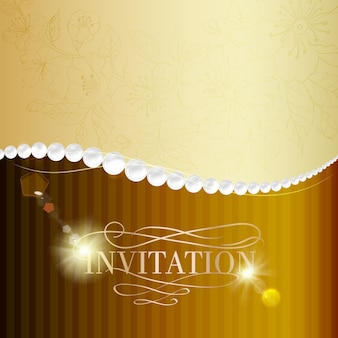 Carte d'invitation de bijoux.