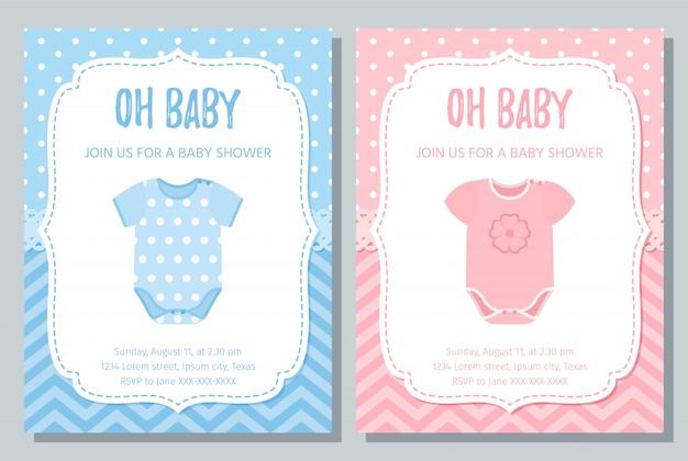 Carte d'invitation de douche de bébé.