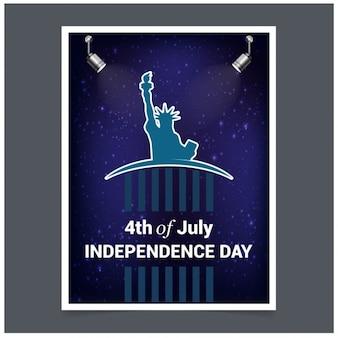 Carte d'invitation élégante pour le 4ème juillet jour de l'indépendance américaine célébration de fête