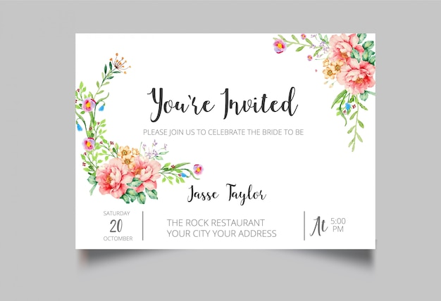 Carte d'invitation à un événement spécial