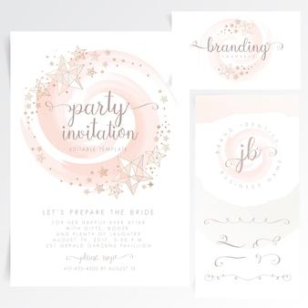 Carte d'invitation de fête mignonne