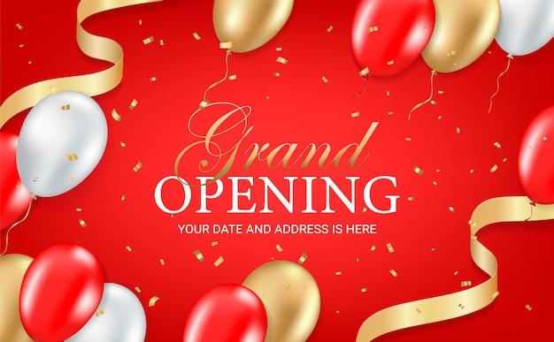 Carte d'invitation de fête d'ouverture