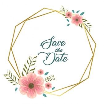 Carte d'invitation avec des fleurs