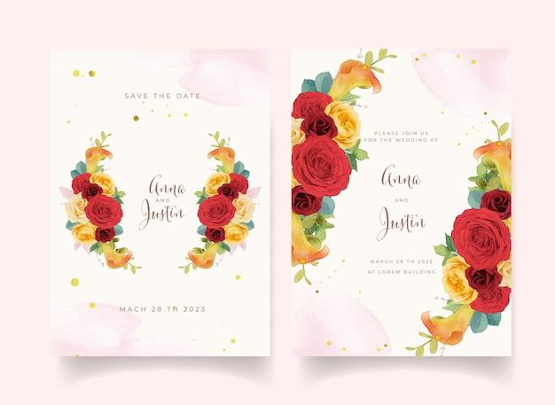 Carte d'invitation florale
