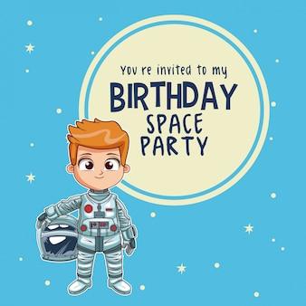 Carte d'invitation de joyeux anniversaire